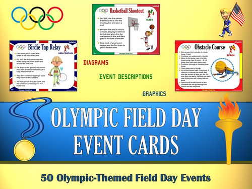 Olympic Field Day Event Cards 50 Themed Events Capnpetespowerpe