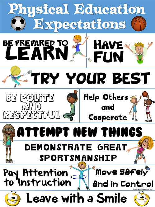 PE Poster: Physical Education Expectations