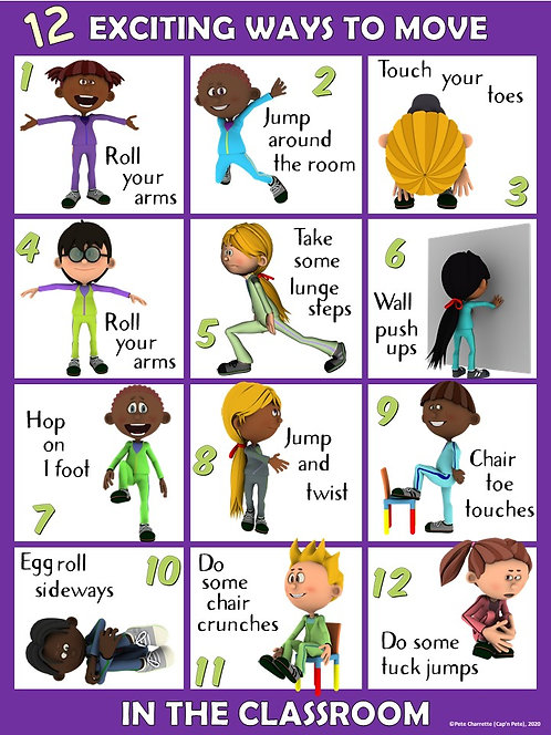Moving in the Classroom Visual Series- 12 EXCITING Ways to Move in the Classroom