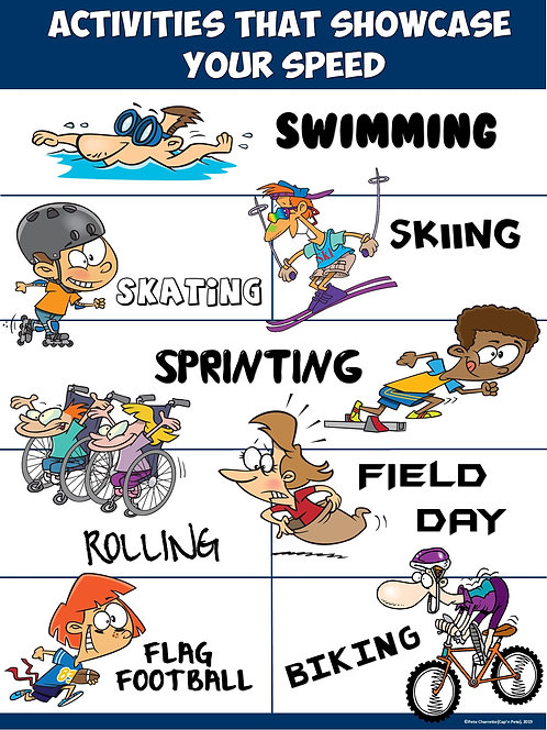 PE Poster: Activities that Showcase your Speed