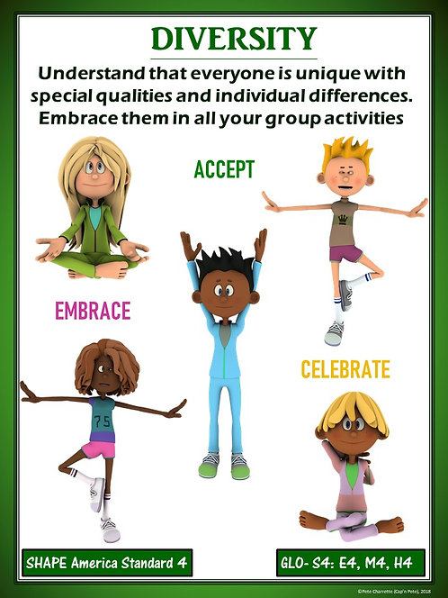 PE Poster: Diversity and Inclusion in Physical Education- Diversity