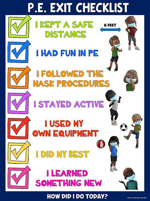 COVID-19 Visual Series- PE Exit Checklist (Re-entry to School)