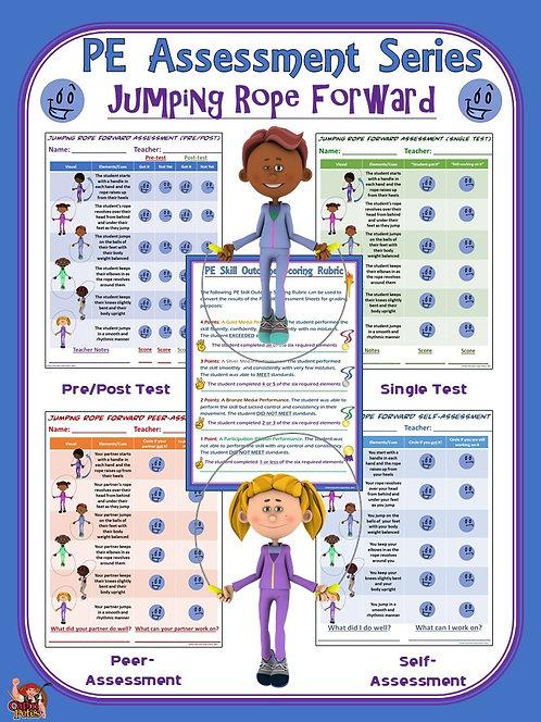 PE Assessment Series: Jumping Rope Forward- 4 Versions
