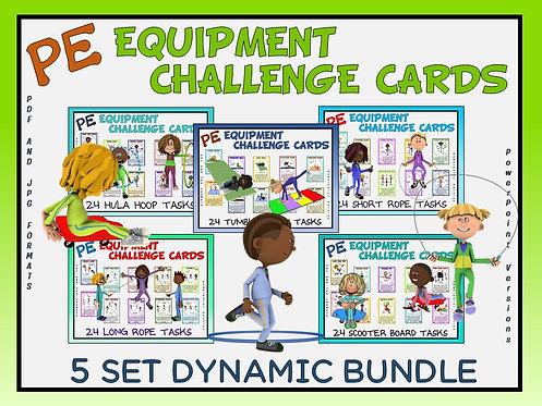 PE Equipment Challenge Cards - 5 Set DYNAMIC Bundle (includes Power Points)