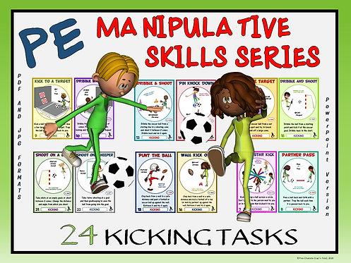 PE Manipulative Skill Series: 24 Kicking Tasks