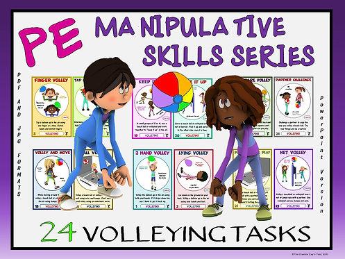 PE Manipulative Skill Series: 24 Volleying Tasks