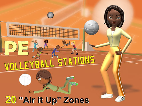 """PE Volleyball Stations- 20 """"Air it Up"""" Zones"""