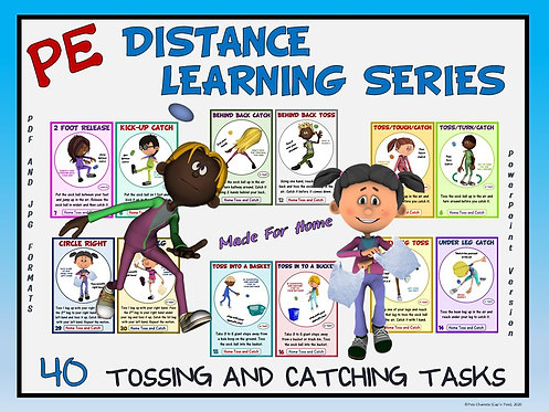 PE Distance Learning Series: 40 Tossing and Catching Tasks for Students at Home