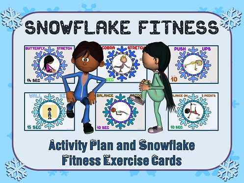 Snowflake Fitness- Activity Plan and Snowflake Exercise Task Cards