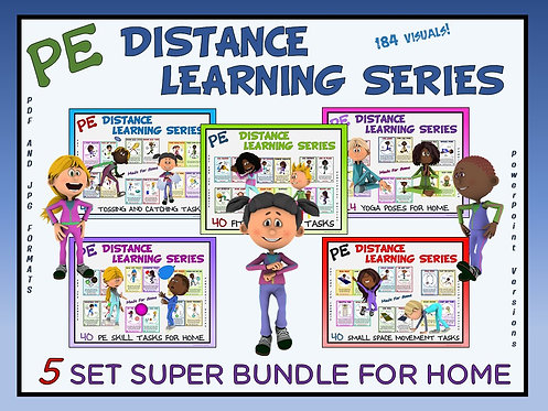 PE Distance Learning Series: 5 Set SUPER BUNDLE for Home