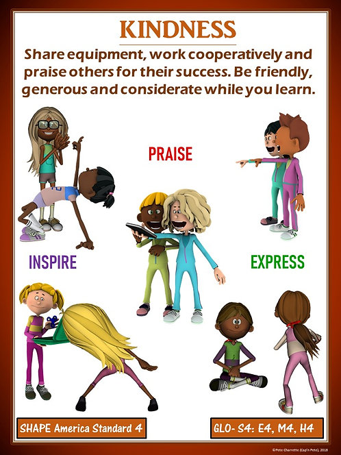 PE Poster: Diversity and Inclusion in Physical Education- Kindness