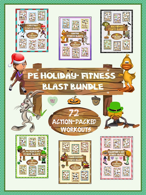 PE Holiday: Fitness Blast BUNDLE- 72 Action Packed Workouts