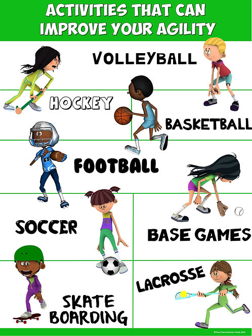PE Poster: Activities that can Improve your Agility
