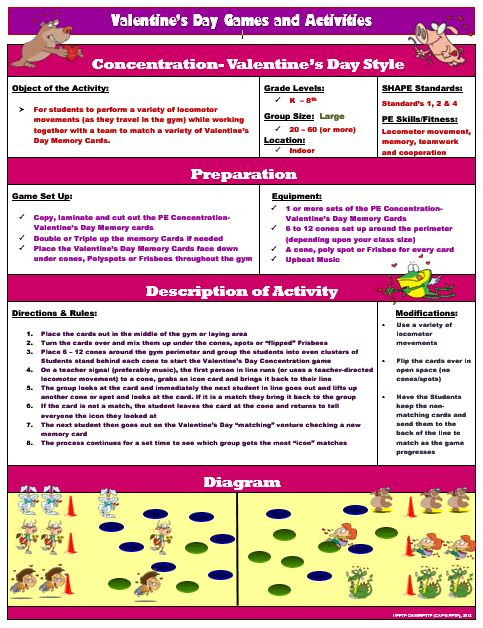 Pe concentration valentines day version activity plan with 32 a heart filled game ccuart Choice Image