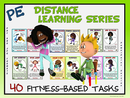 PE Distance Learning Series: 40 Fitness-Based Tasks for Students at Home