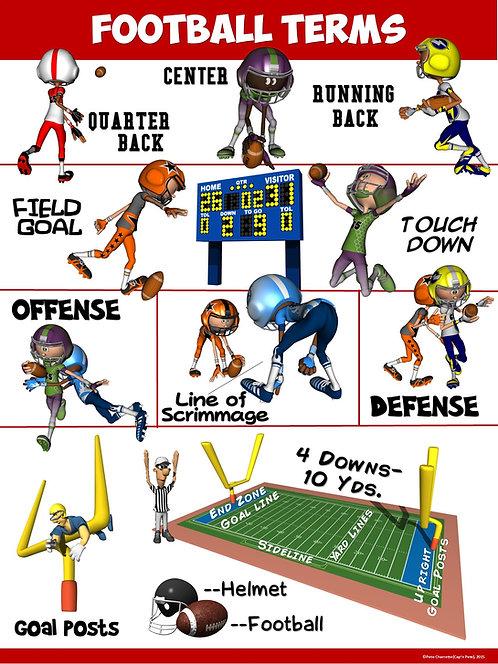 PE Poster: Football Terms