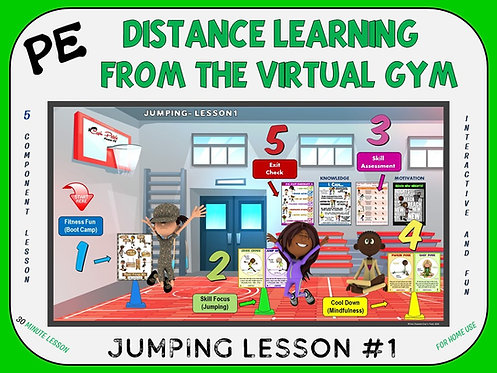 PE Distance Learning from the Virtual Gym- Jumping Lesson #1