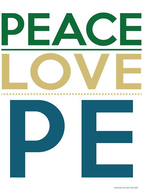 PE Advocacy Poster: PEACE- LOVE- PE