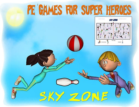 """PE Games for Superheroes!- """"Sky Zone"""""""