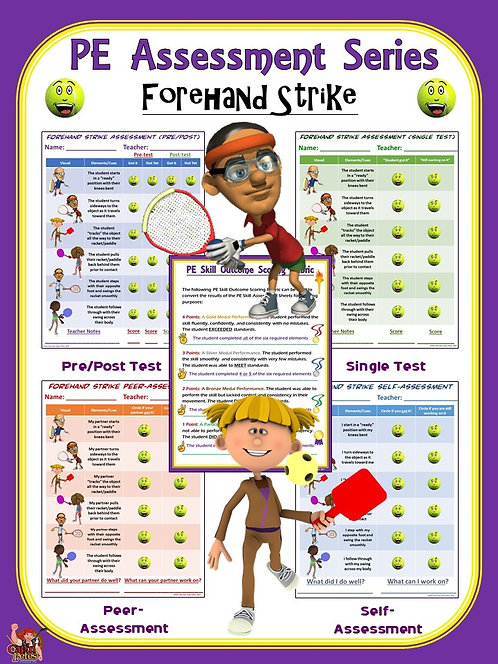 PE Assessment Series: Forehand Strike- 4 Versions
