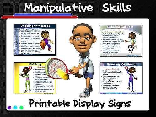 Manipulative Skills- Printable Display Signs