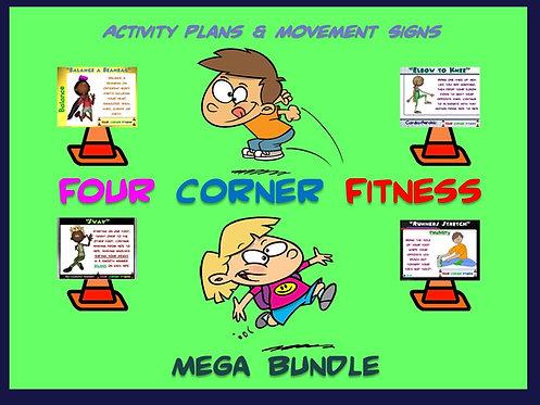 "PE Activities: ""Four Corner Fitness""- MEGA BUNDLE"