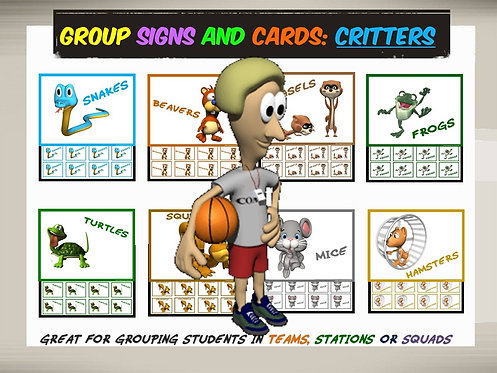 Group Signs and Cards: Critters