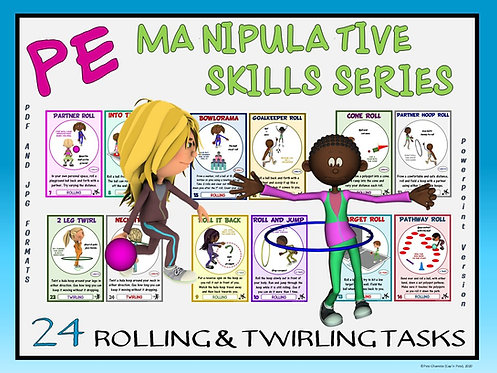 PE Manipulative Skill Series: 24 Rolling and Twirling Tasks