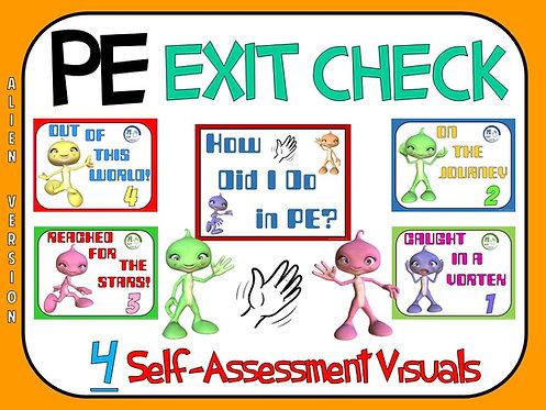 PE Exit Check- 4 Self-Assessment Visuals- Alien Version