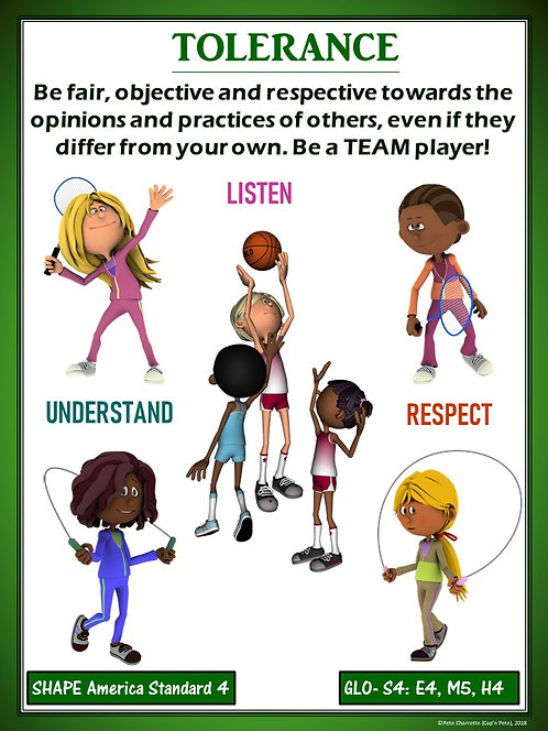 PE Poster: Diversity and Inclusion in Physical Education- Tolerance