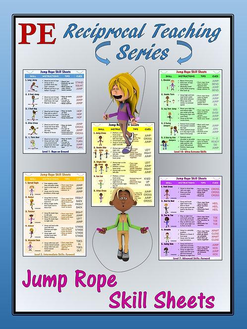 PE Reciprocal Teaching Series- Jump Rope Skill Sheets