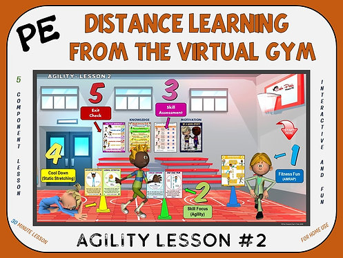 PE Distance Learning from the Virtual Gym- Agility Lesson #2