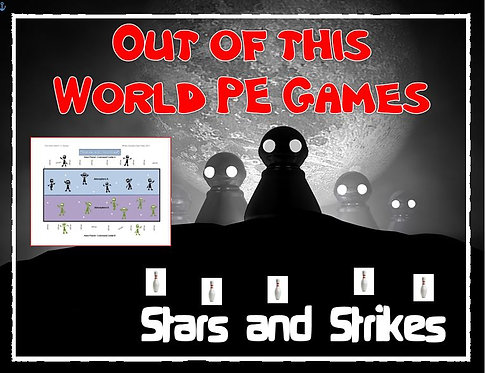 "Out of this World PE Games!- ""Stars and Strikes"" Out of this World PE Games!- ""S"