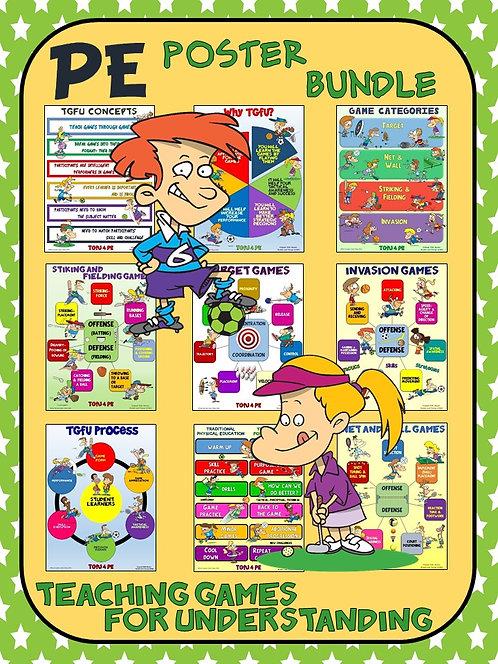 PE Poster Bundle: Teaching Games for Understanding (TGfU)- 9 Poster Package