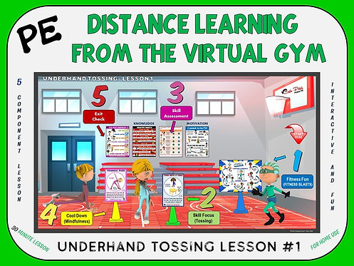 Distance Learning from the Virtual Gym- Underhand Tossing Lesson #1