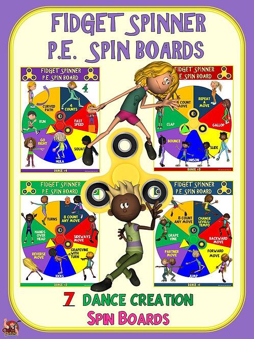 Fidget Spinner PE Spin Boards- 7 Dance Creation Spin Boards