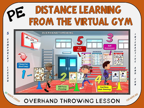 Distance Learning from the Virtual Gym- Overhand Throwing Lesson