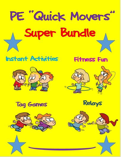 "PE ""Quick Movers"" Bundle- Instant Activities, Relays, Tag Games and Fitness Fun"