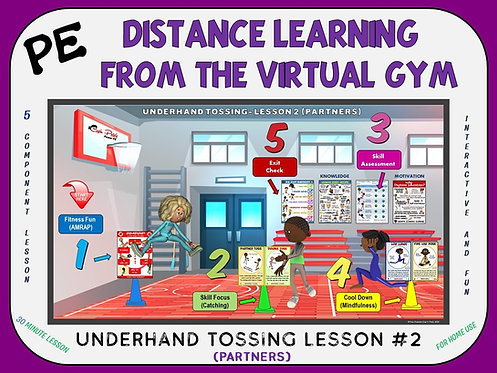 Distance Learning from the Virtual Gym- Underhand Tossing Lesson #2 (Partners)