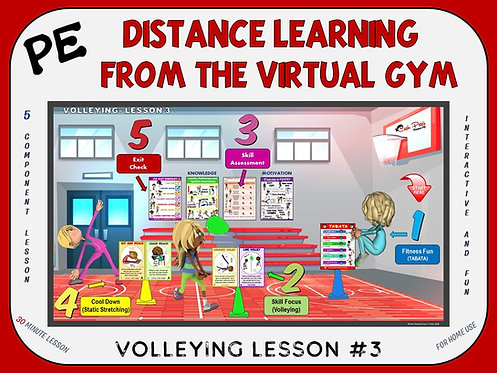 Distance Learning from the Virtual Gym- Volleying Lesson #3