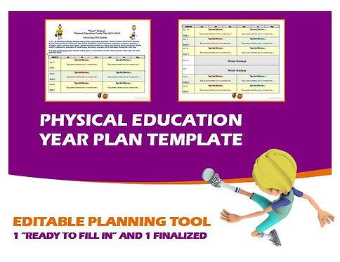 Physical Education Year Plan- Editable Template