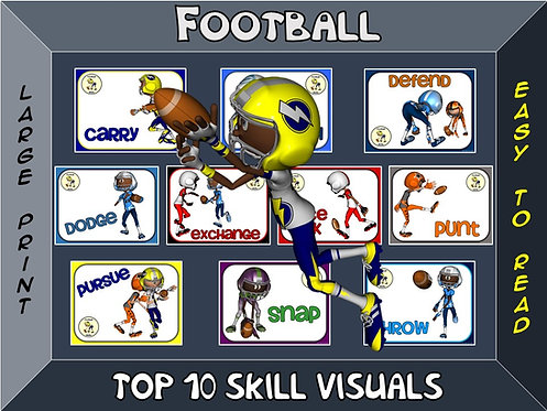 Football- Top 10 Skill Visuals- Simple Large Print Design