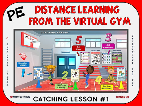 Distance Learning from the Virtual Gym- Catching Lesson #1