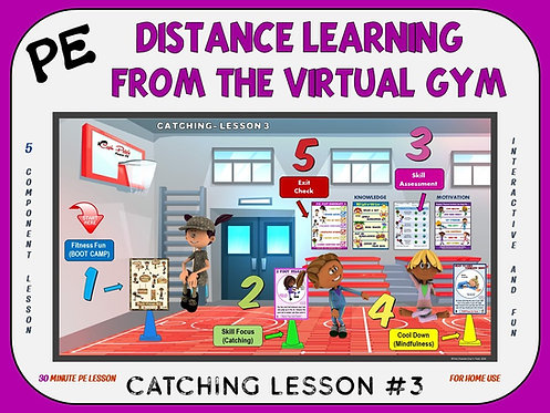 Distance Learning from the Virtual Gym- Catching Lesson #3