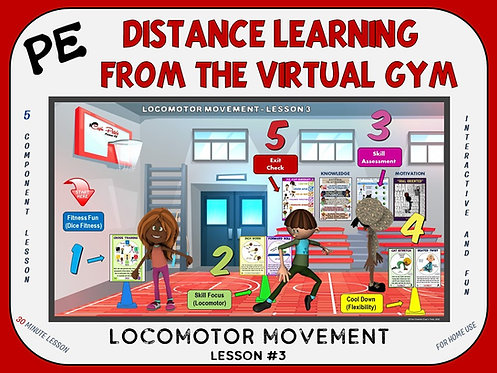 PE Distance Learning from the Virtual Gym- Locomotor Movement Lesson #3