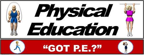 PE Over the Door Banner (Upper Grades): GOT PE?