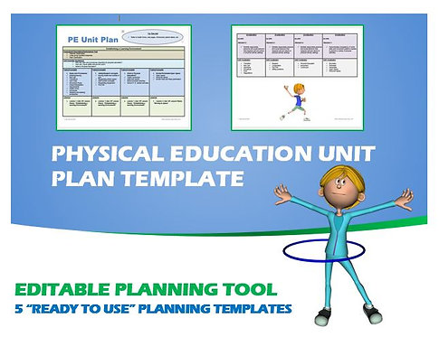 "Physical Education Unit Plan- 5 ""Ready to Use"" Planning Templates"