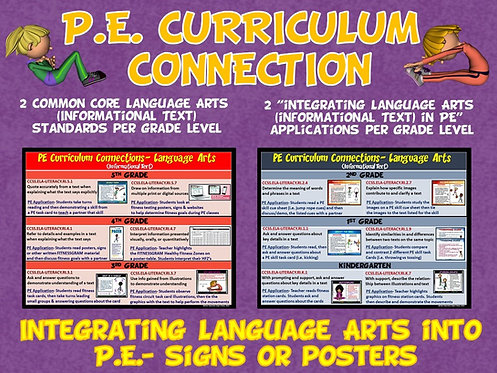 PE Curriculum Connection: Integrating Language Arts (Informational Text) into PE
