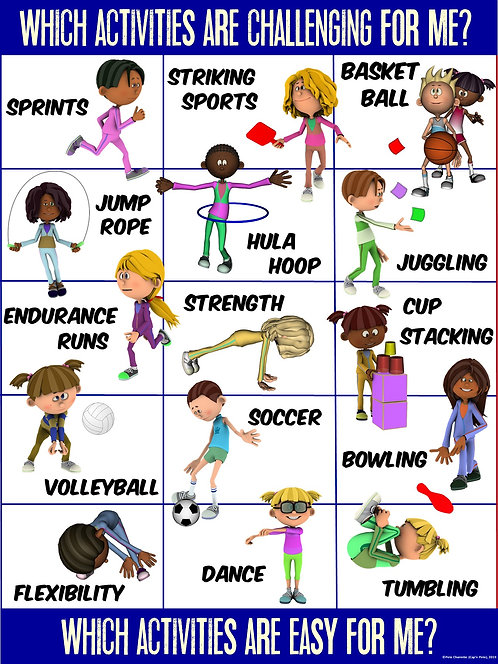 PE Poster: Valuing Physical Activity Series- Activity Challenge Check