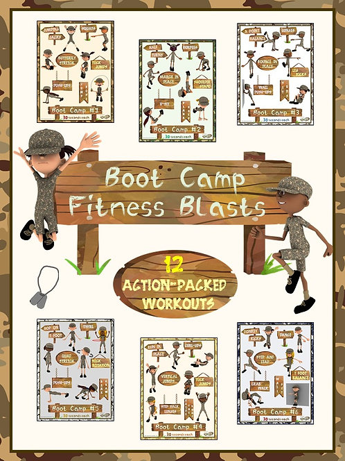 "Boot Camp Fitness Blasts- 12 ""Action Packed"" Workouts"